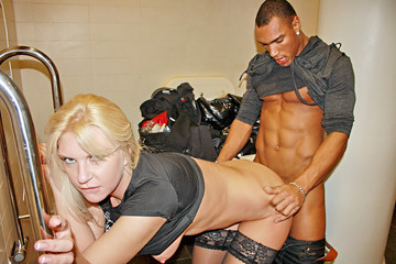 Pick up fuck with blonde in hot lingerie